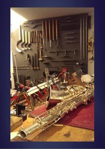 atelier instrument musique a vent - réparation instrument à vent - saxophone - trompète - instrument de musique